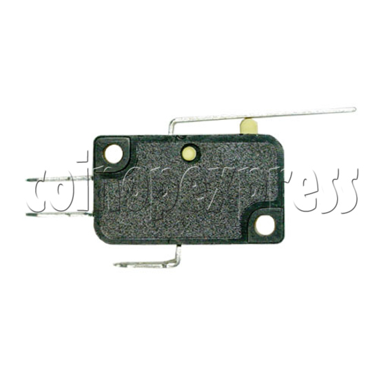 Yellow Microswitch with Auxiliary Actuator 13390