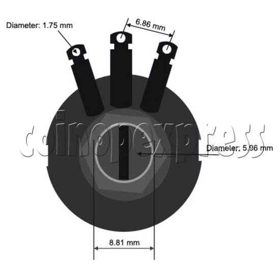 Potentiometer 2.5K ohm 13615