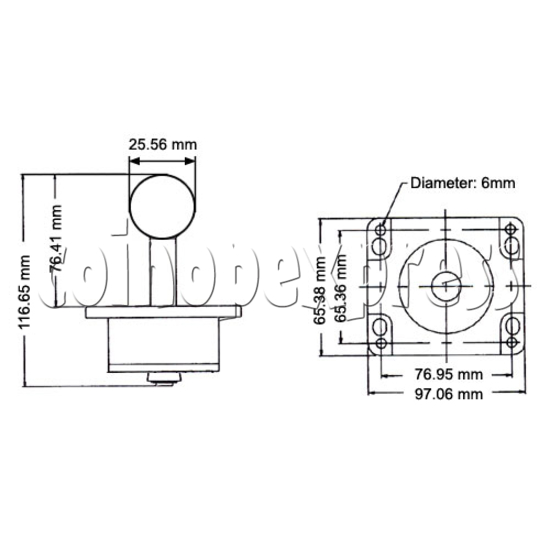 Metal Construction Joystick with ZIPPY Microswitches 13758