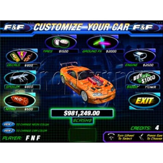 Fast and Furious Arcade Machine SD Version 13940