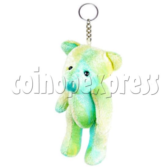 """3"""" Coloured Patchwork Teddy Bear 14855"""