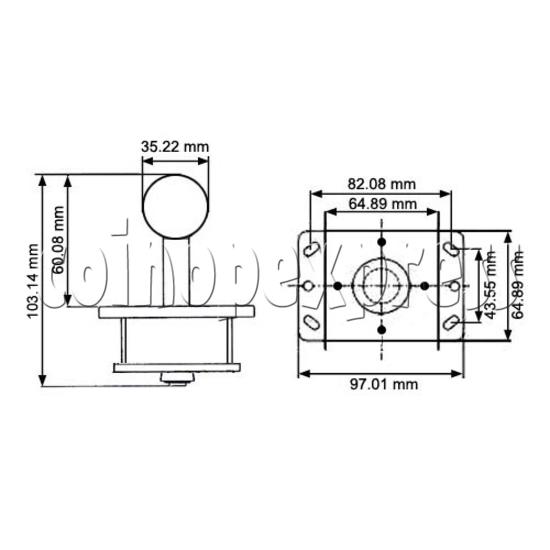 Zippyy Joystick (short actuator) 16108