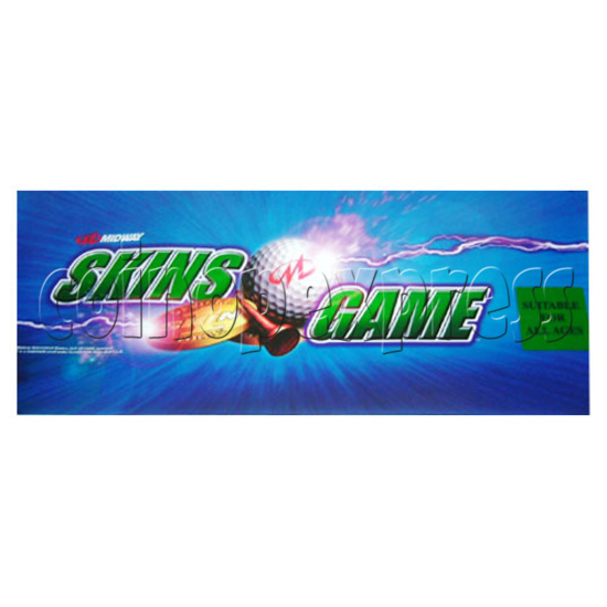 Skins Arcade Game Midway Skins Golf Kit - Sticker-2