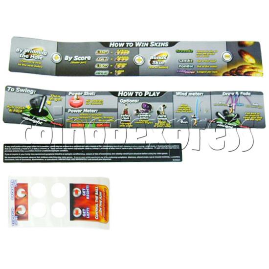 Skins Arcade Game Midway Skins Golf Kit - Sticker-3