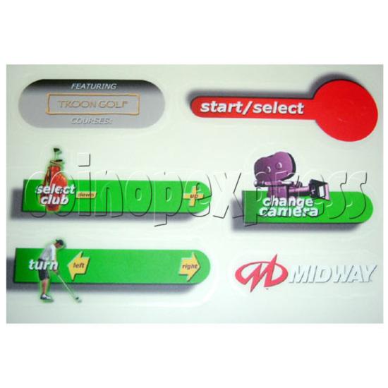 Skins Arcade Game Midway Skins Golf Kit - Sticker-4