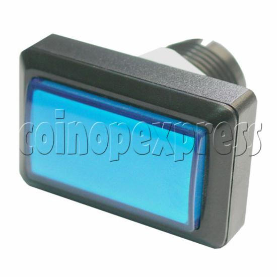 Rectangular Illuminated Push Button With LED Light - Square Edge 17576