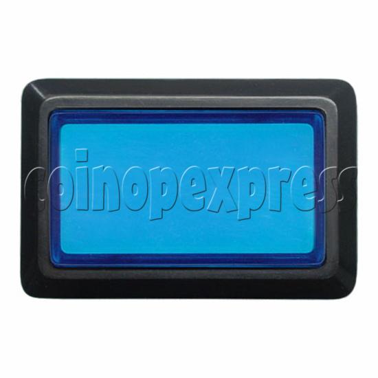 Rectangular Illuminated Push Button With LED Light - Square Edge 17577