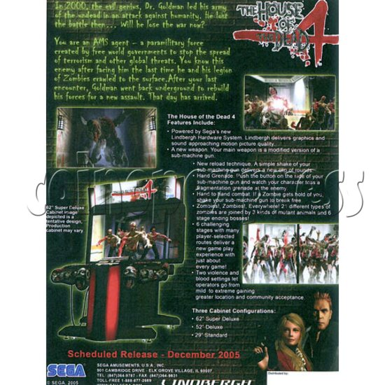 House of Dead 4 DX machine 18538
