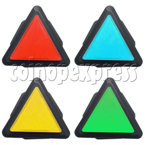 43mm Triangular Illuminated Push Button - Black Body 19031