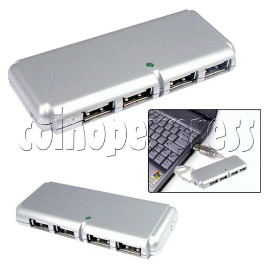 4 Ports External Slim Mini USB Hub 19388