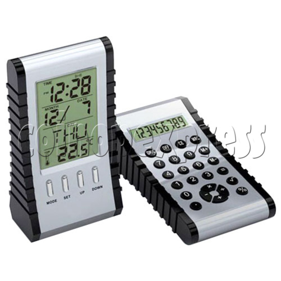 Multi-Function Double-Face LCD Clock with 8 Digitals Calculator 19632