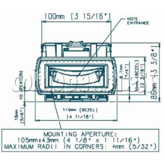 Bill Validator / Note Reader NV10 19944