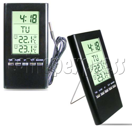 LCD Clock with Weather Data 20093