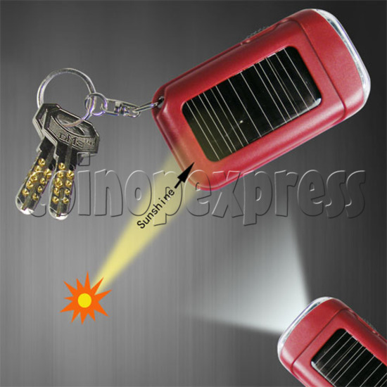 Solar Power Flashlight with Keychain 20126