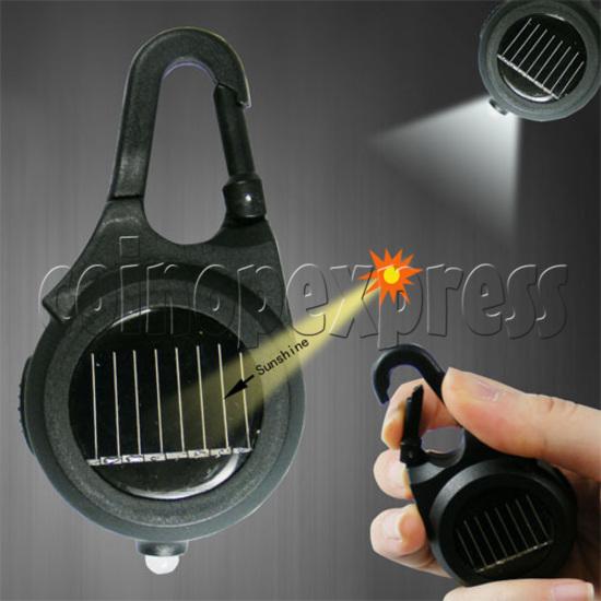 Solar Power Flashlight with Keychain 20127