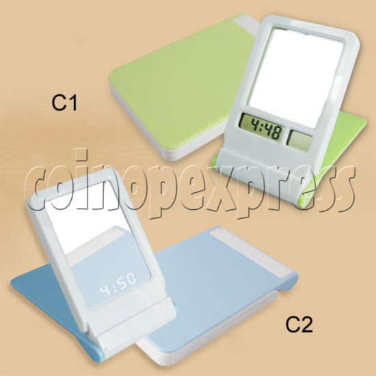 Mirror with LCD Clock 20277