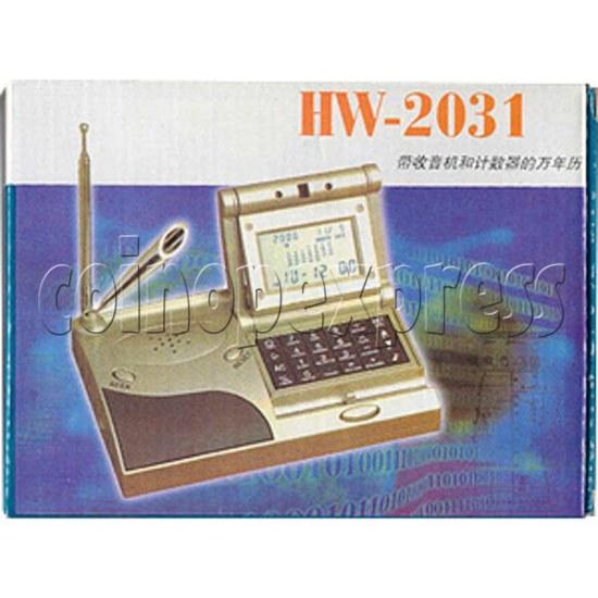 Perpetual Calendar with Radio and Calculator 2060