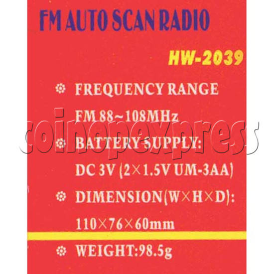Auto Scan FM Radio 2093
