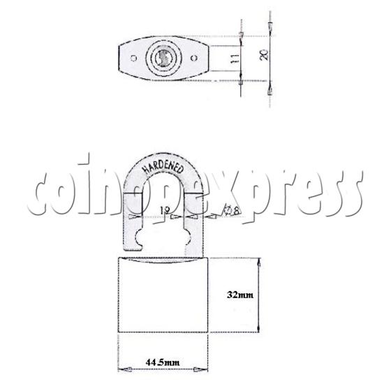 Brass Padlock 21085