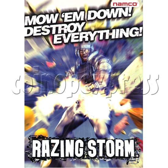Razing Storm Shooting Game Machine 21181