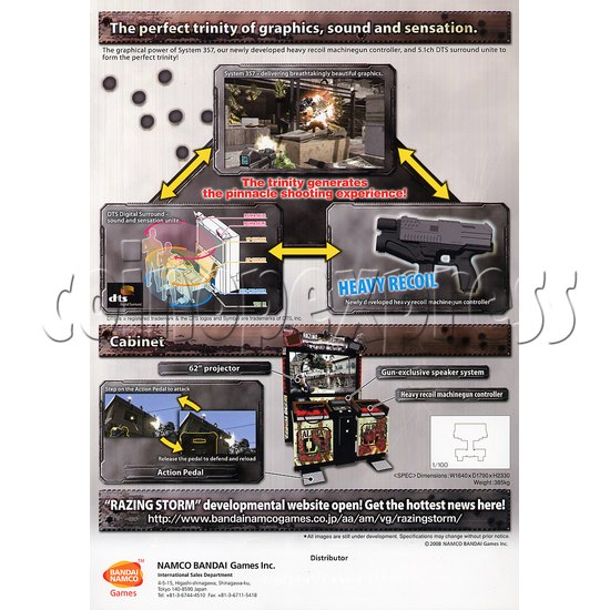 Razing Storm Shooting Game Machine 21182
