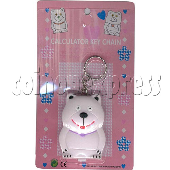 White Bear Calculator Key Chain 2131