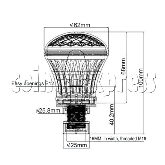 62MM Mushroom Light 21423