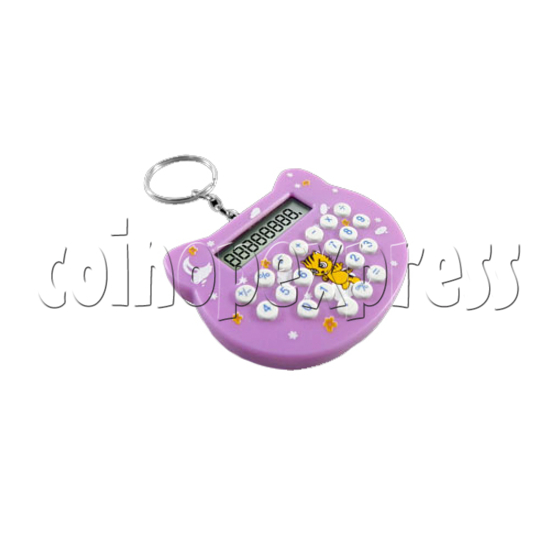 Mini cat style Calculator Key Ring 23102