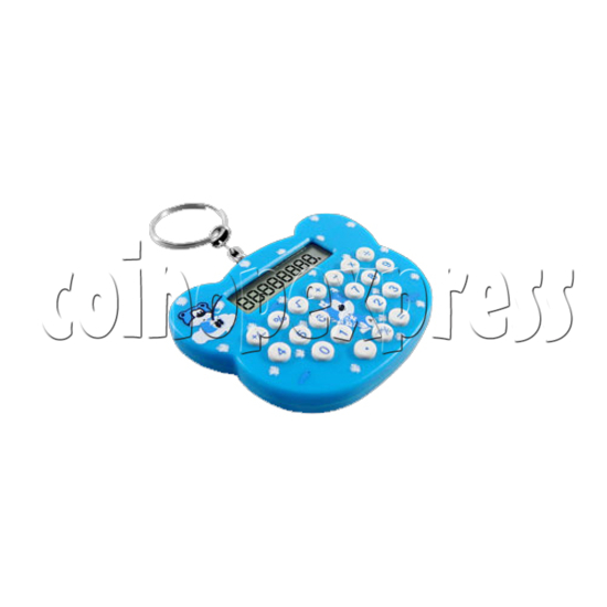 Mini cat style Calculator Key Ring 23105