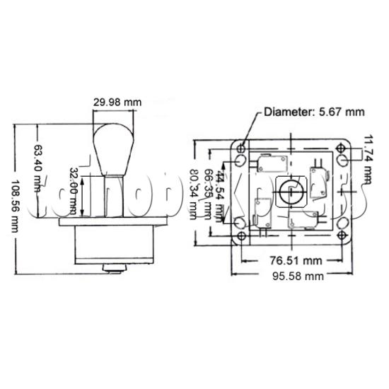 Elliptical Nylon Joystick 23438