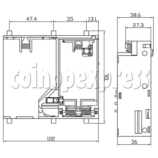 Multi Coin Validator (drop insertion) 23600