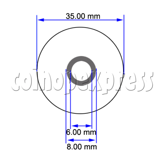 Joystick Bubble Top (35mm) 23635