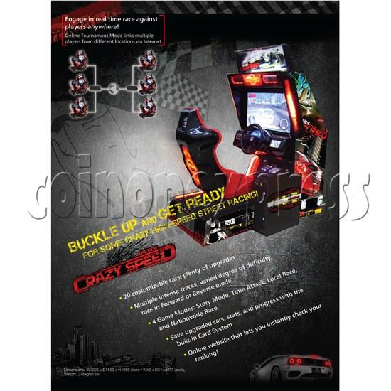 Crazy Speed Arcade Machine 23722