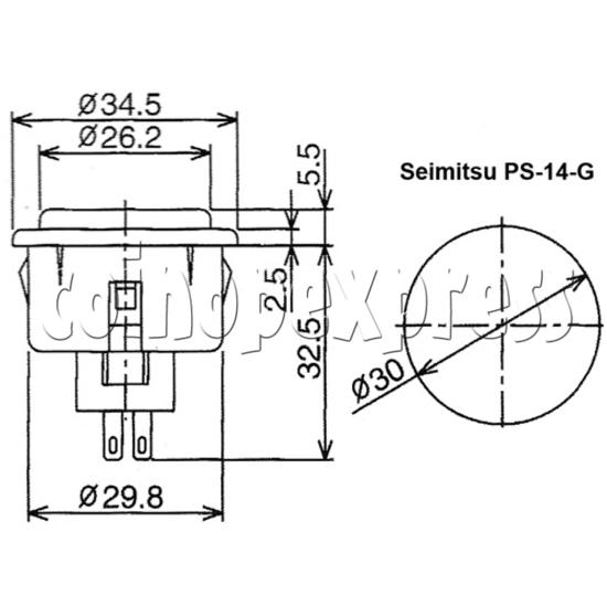 SEIMITSU Push Button PS-14-G 23729