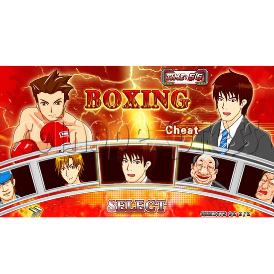 """Punch Machine: 32"""" LCD live boxing 24024"""