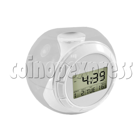 Alarm LCD Clock With Natural Sounds 24296