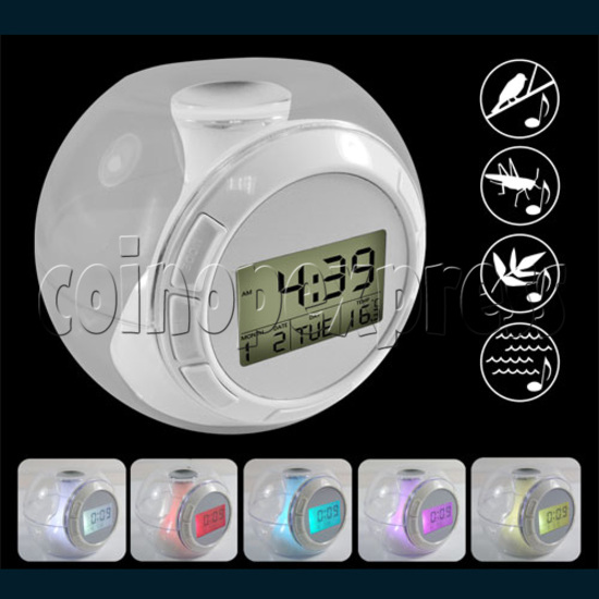 Alarm LCD Clock With Natural Sounds 24297
