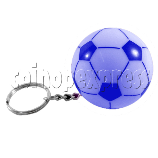 Football Shape Keyring With Colorful Flashing Light 24338