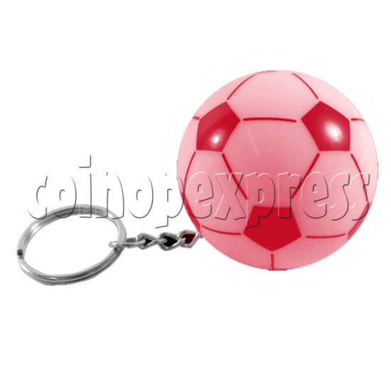 Football Shape Keyring With Colorful Flashing Light 24340