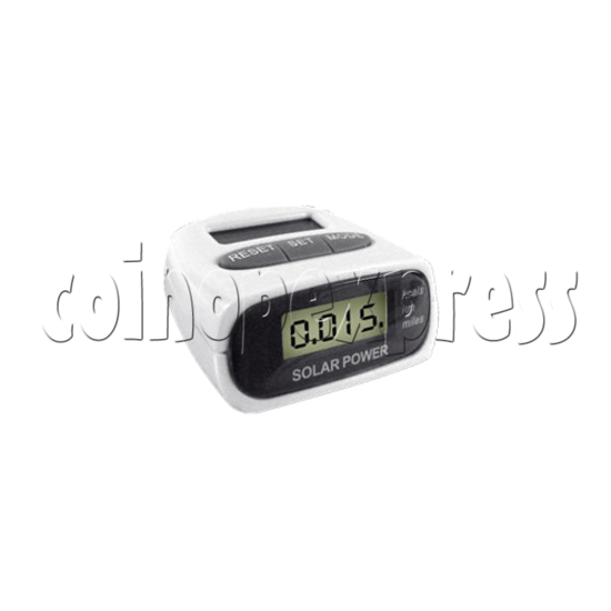 3 Buttons Pedometer With Solar Power 24366