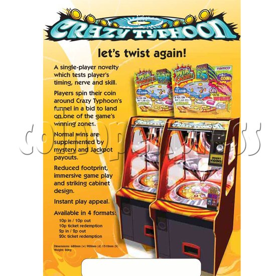 Crazy Typhoon Coin Pusher 24575