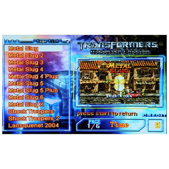 Ultimate Edition 2011 Arcade Game Board - Game list page -2