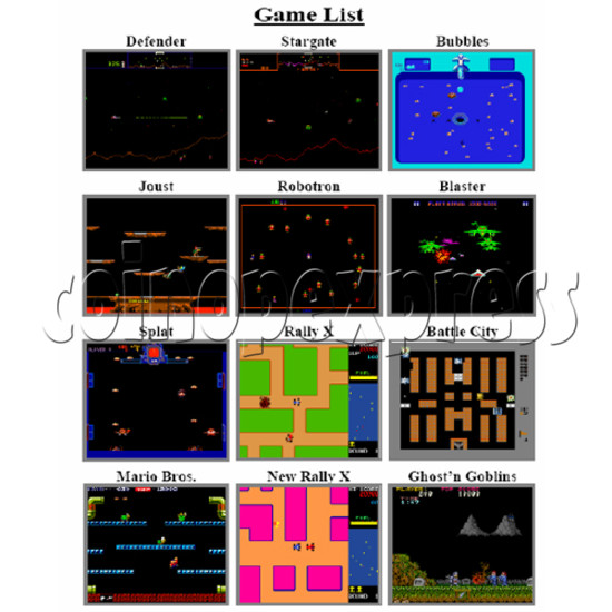 Multi Games 19 in 1 PCB -game list 1