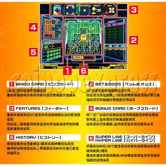 Bingo Galaxy SD Medal Game 26811