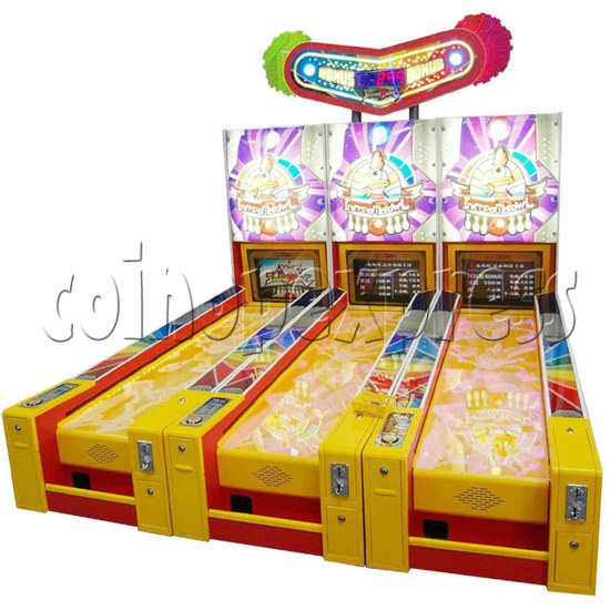 Wooden Ball Bowling machine (3 lanes) 27008