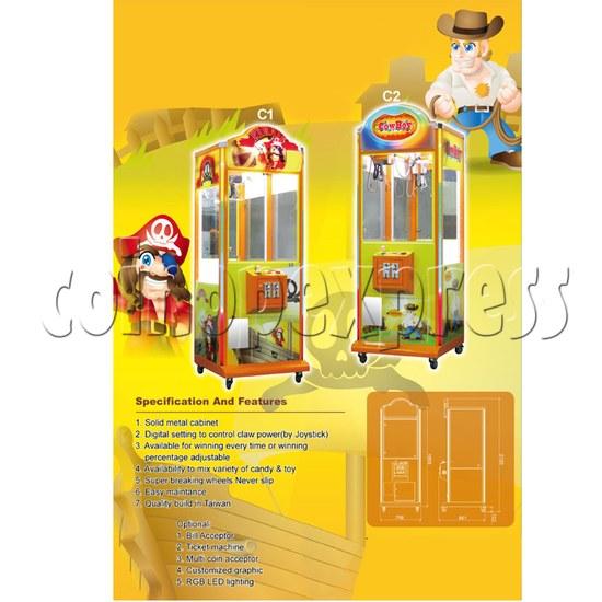 Taiwan crane machine: 30 Inch Priate Plush 27498
