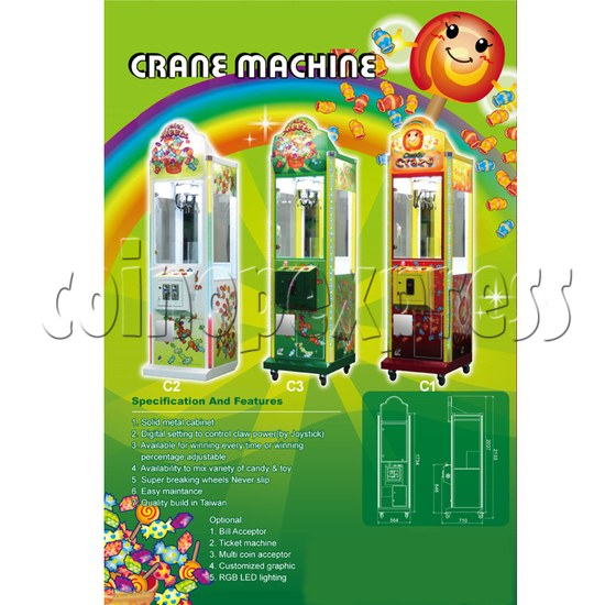 Taiwan candy crane machine: 22 Inch Catcher 27502