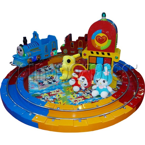 Train Race kiddie ride (3 players) 28979