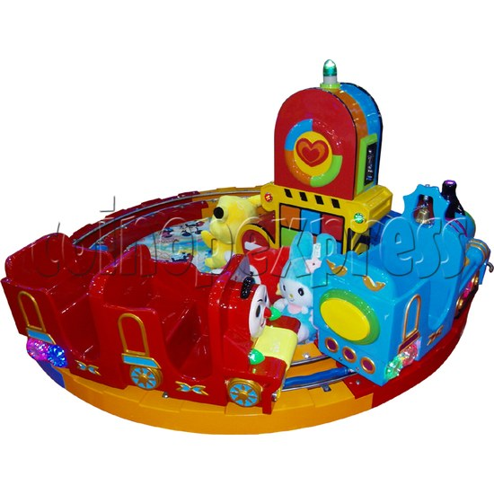 Train Race kiddie ride (3 players) 28981