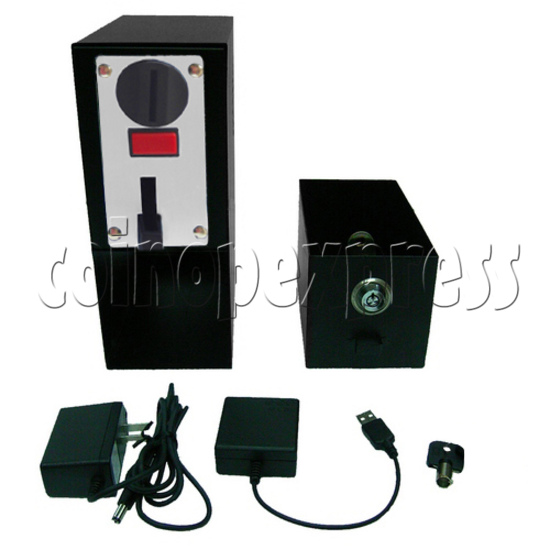 Coin-operated Heavy-duty Metal box with USB control (5 type coins) 29215
